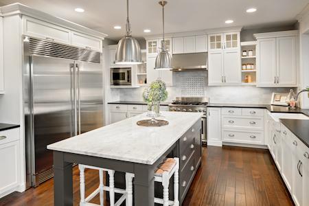 new furnished kitchen in luxury